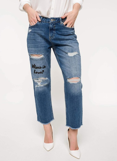DeFacto Mary Straigt Denim Pantolon Mavi